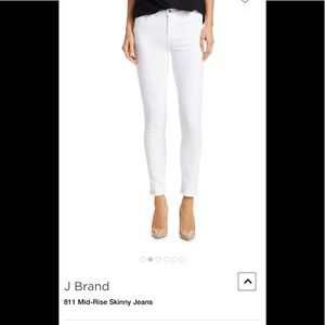 J Brand mid rise white jeans style 8112c028 sz28